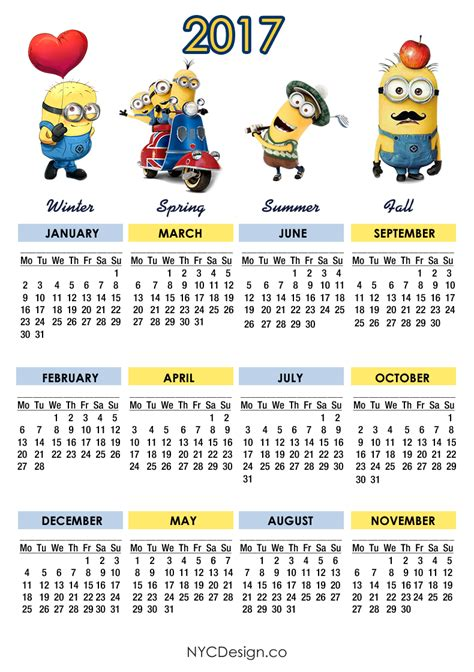 minion desk calendar 2018 york web design studio york ny minions calendar