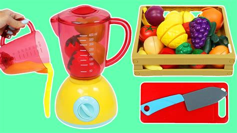 4 fruit blend smoothie learn fruit names blend fruit into slime smoothies to