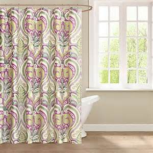echo design vineyard paisley fabric shower curtain purple