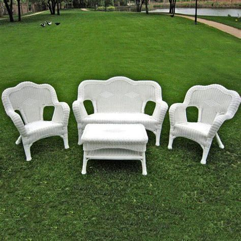 White Resin Wicker Patio Furniture by White Wicker Patio Furniture Accent Knowledgebase