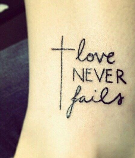 love never fails tattoo designs never fails 1 corinthians 1 8 wrist tattoos