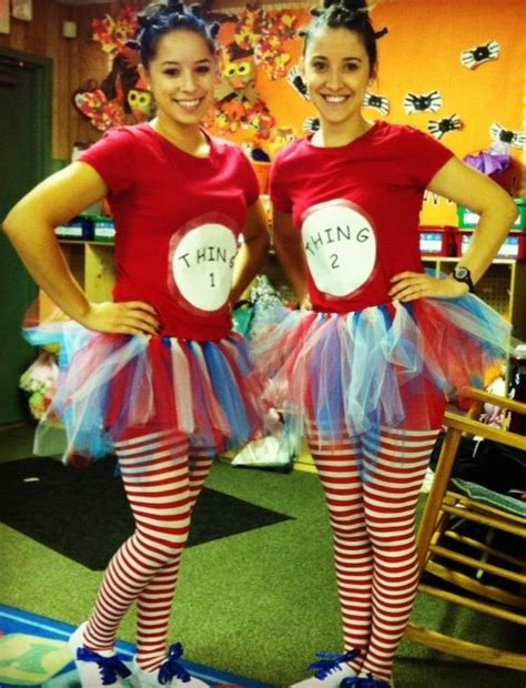 halloween themes for coworkers my co worker and i dressed up as thing 1 and thing 2