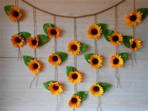 sunflower wedding decor sunflower garland bridal shower