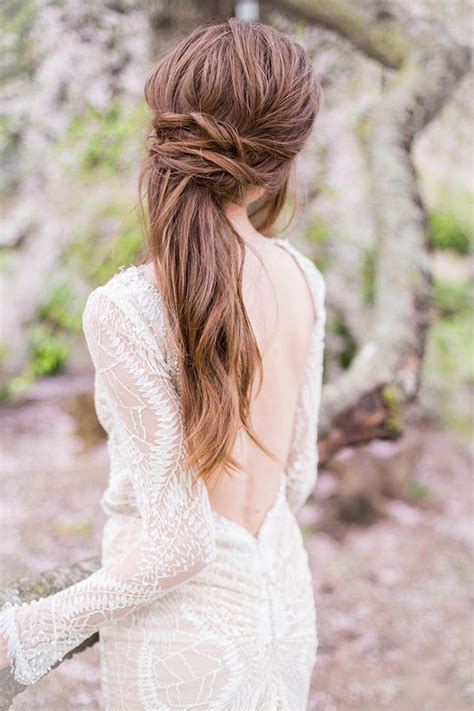 24 chic half up half down bridesmaid hairstyles messy hair don t care 16 messy bridal hairstyles that