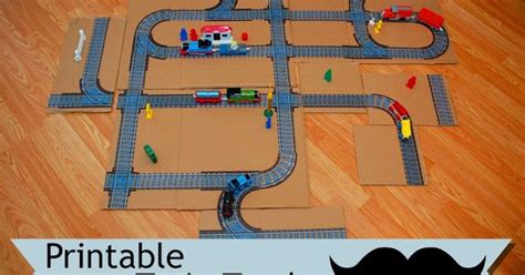 printable railroad tracks printable train track indoor games for the youngin s