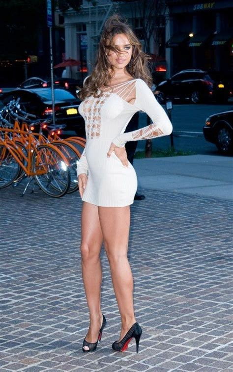 hollywood actress in mini skirt irina shayk dress legs high hills shoes woman model
