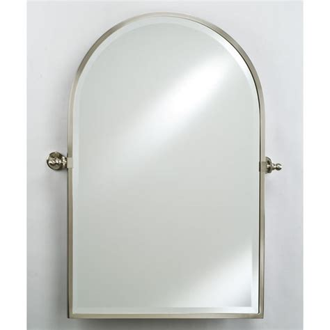 bathroom mirrors arched top framed wall mirror with gear