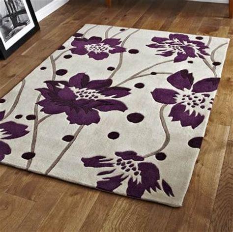 Modern Designer Luxury Cream Purple Floral Pattern Soft Purple Area Rugs Cheap