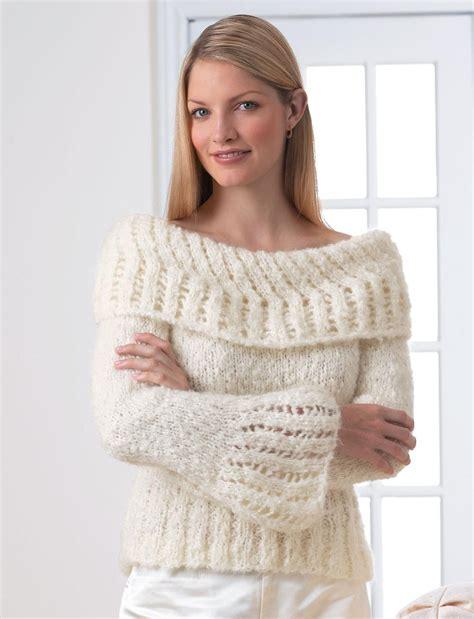 white pattern knit sweater lacework sweater allfreeknitting com