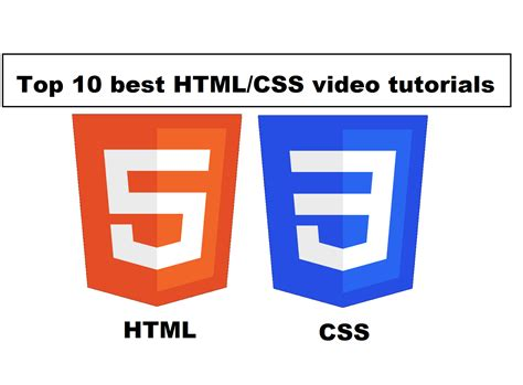 10 tutorials for building website with html5 css3 web top 10 best html css video tutorials learn html css step