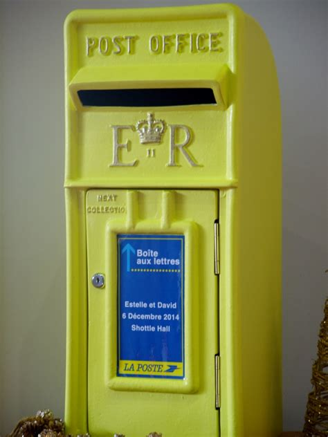 Wedding Post Box Yellow by Wedding Postbox Hire In Derbyshire