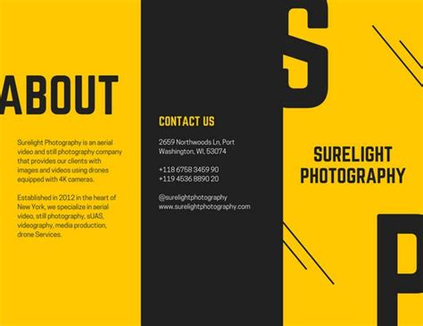 Production Resume Examples by Yellow Black Photography Brochure Templates By Canva