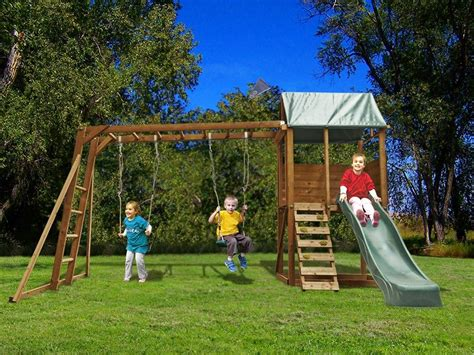 ebay swing sets for sale dunster house squirrelfort outdoor wooden climbing frame