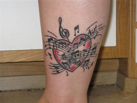 music heart tattoo tattoos designs ideas and meaning tattoos for you