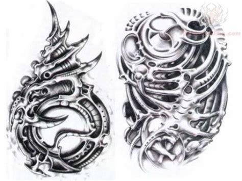 black and grey biomechanical tattoo designs black and white biomechanical design