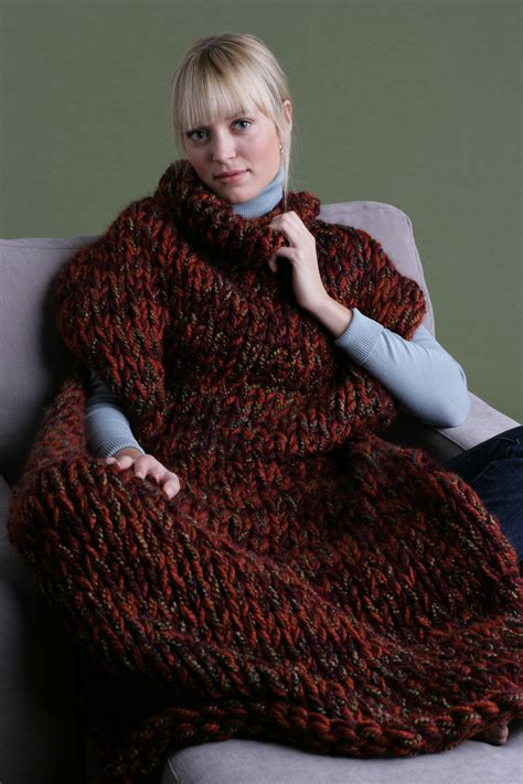 wool knitting patterns knit sweater blanket in brand wool ease thick