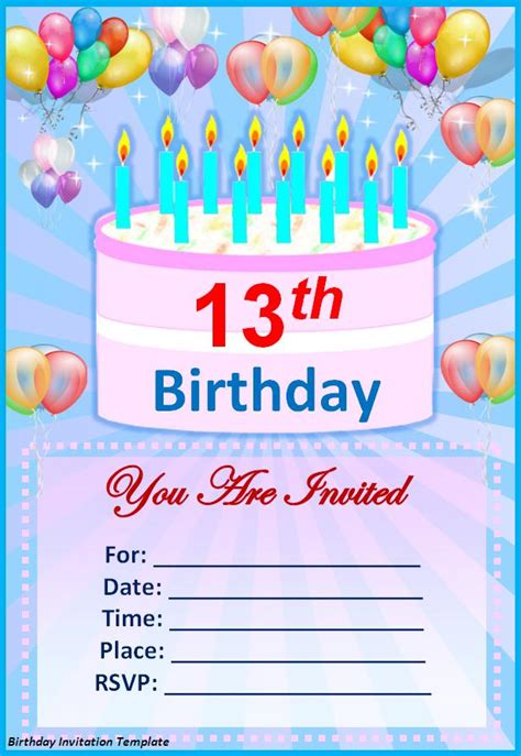 Birthday Invitations Template by Birthday Invitation Template Best Word Templates
