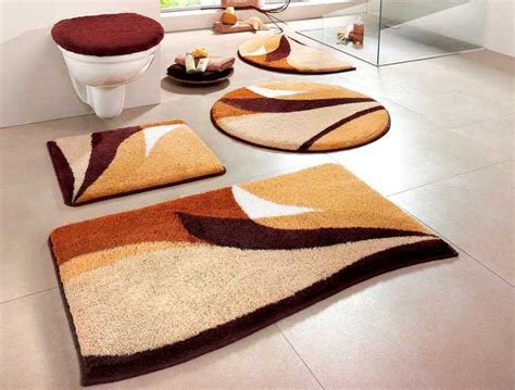 badezimmerteppich 3 teilig 2 tlg set badgarnitur 50 x 55 braun beige badteppich matte