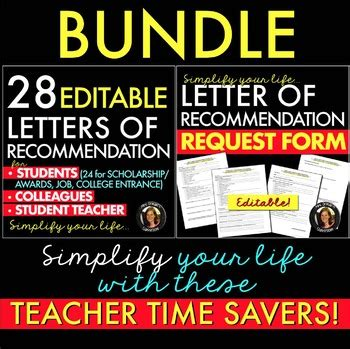 Bundle Request 4 letters of recommendation and reference letter request