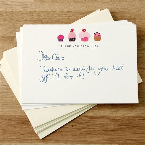 Thank You Gift Card - original custom personalized thank you cards cupcake design template decoration