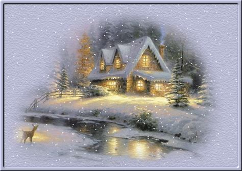 winter landscapes and scenic wintery moving snow animations