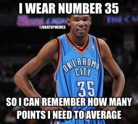 Okc Thunder Memes - lol kd with 11 straight 30 point games credit nba top