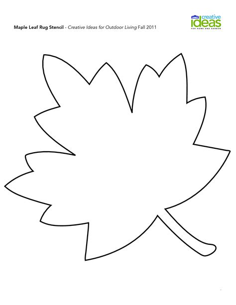 leave template fall leaf template search fall