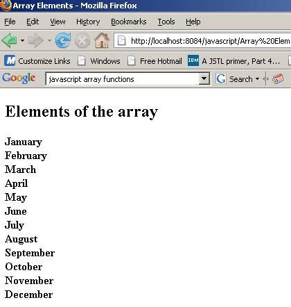 javascript tutorial roseindia javascript array for loop