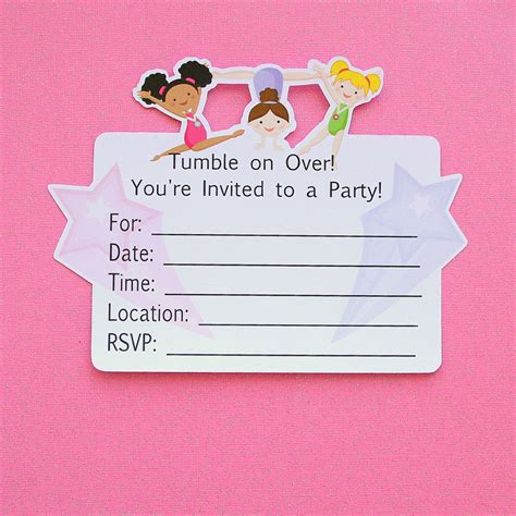 gymnastics party invitation template free