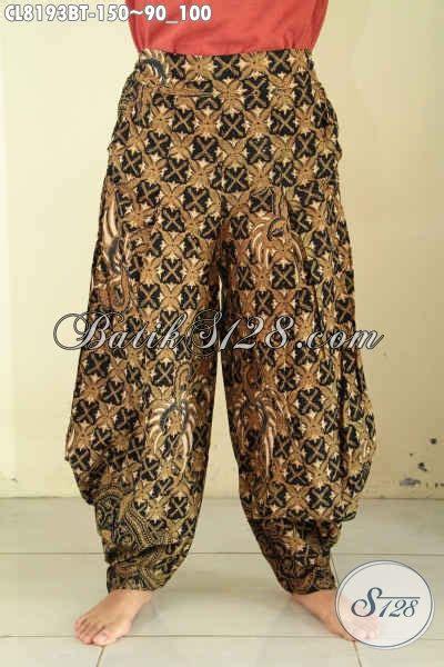 Celana Kain Wanita Ibu Pinggang Karet Katun Halus Cotton jual celana batik kulot desain kekinian bahan halus pake karet pinggang dan kantong kanan kiri