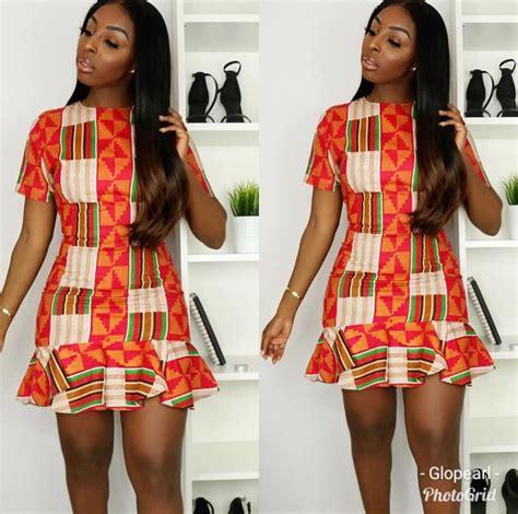 Simple Short Gown For Ankara