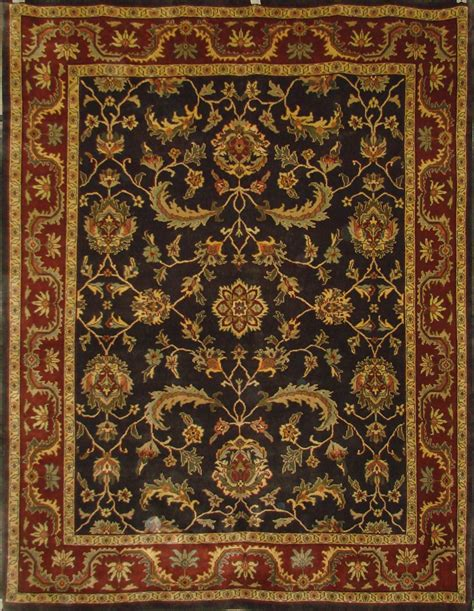 discontinued rugs knoted black charcoal rust orange colors clearance rugs discontinued rugs 0017