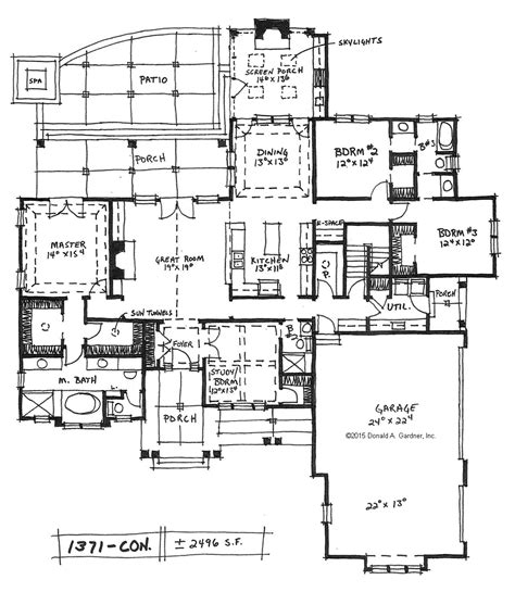 house plans with two master bedrooms downstairs