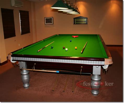 Snooker Table Size by Fcsnooker Presents The Quot Elite In Mahogany With Silver Trim