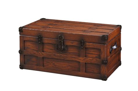 wooden trunk antique style oak wood steamer trunk from dutchcrafters amish