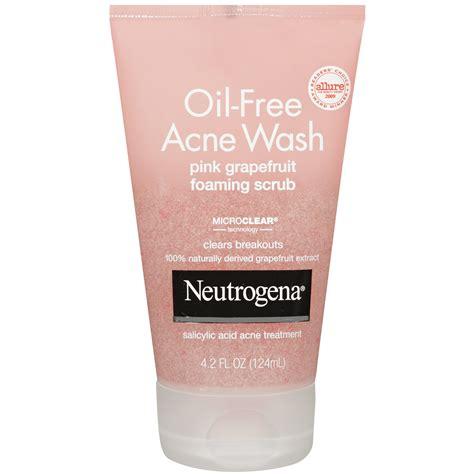 Acne Cleanser Scrub Beta Plus neutrogena free acne wash pink grapefruit foaming
