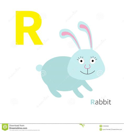 R Rabbit letter r rabbit zoo alphabet abc with animals