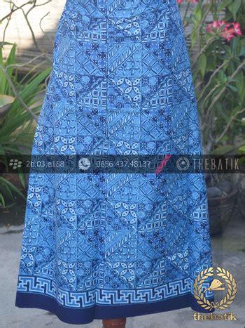 Kain Batik Cap Indigo Biru Fashion Wanita Pria Kemeja Batik jual kain seragam batik pekalongan motif tambal biru