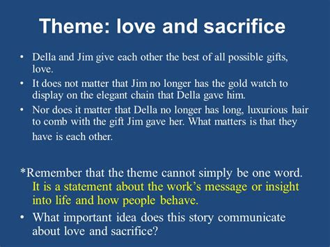 themes about love and sacrifice the gift of the magi by o henry ppt video online