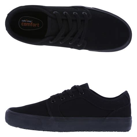 safetstep slip resistant s canvas oxford shoe payless