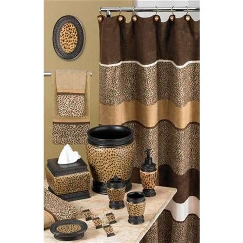 Leopard print bathroom accessories future home for me amp mace pint