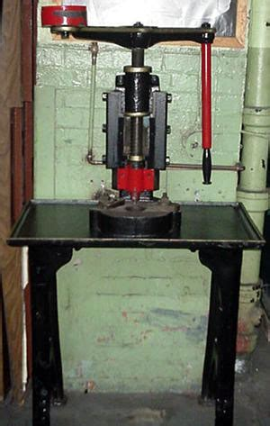 antique screw press hand operated  frame design circa