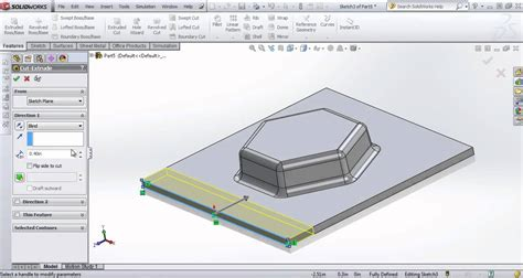solidworks tutorial forming tool solidworks sheet metal custom form tools solidworks