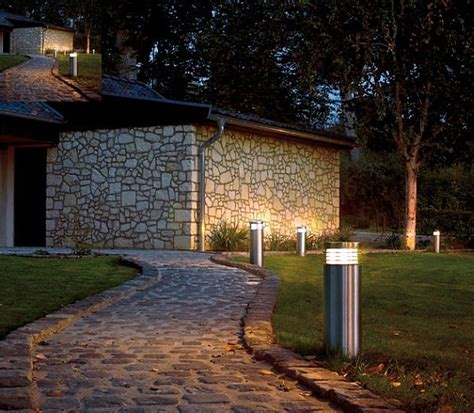 Patio Bollard Lights Garden Outdoor Lighting Ideas For Your Paradise