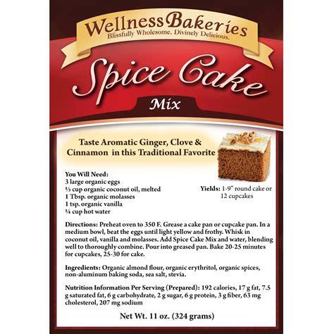 cake mix spice cake mix wellness bakeries