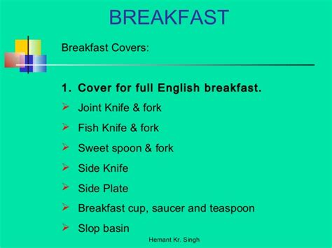 cover layout for english breakfast breakfast