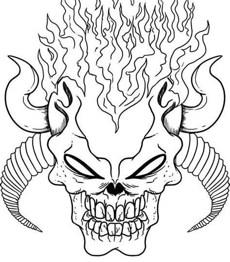 imagenes de calaveras con fuego para dibujar dibujos para colorear para ni 241 os calavera 1