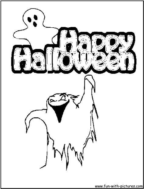 happy ghost coloring pages happy halloween coloring pages clipart panda free