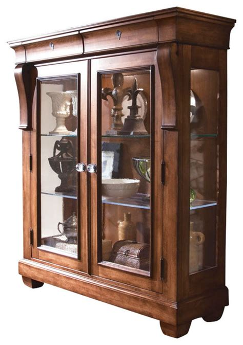 Hutch Display Cabinet by Tuscano Solid Wood Display Cabinet Traditional