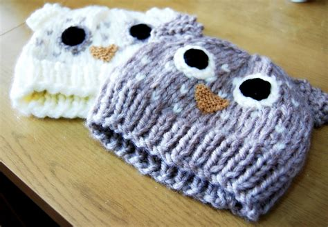 owl hat knitting pattern the geeky knitter owl hat free knitting pattern